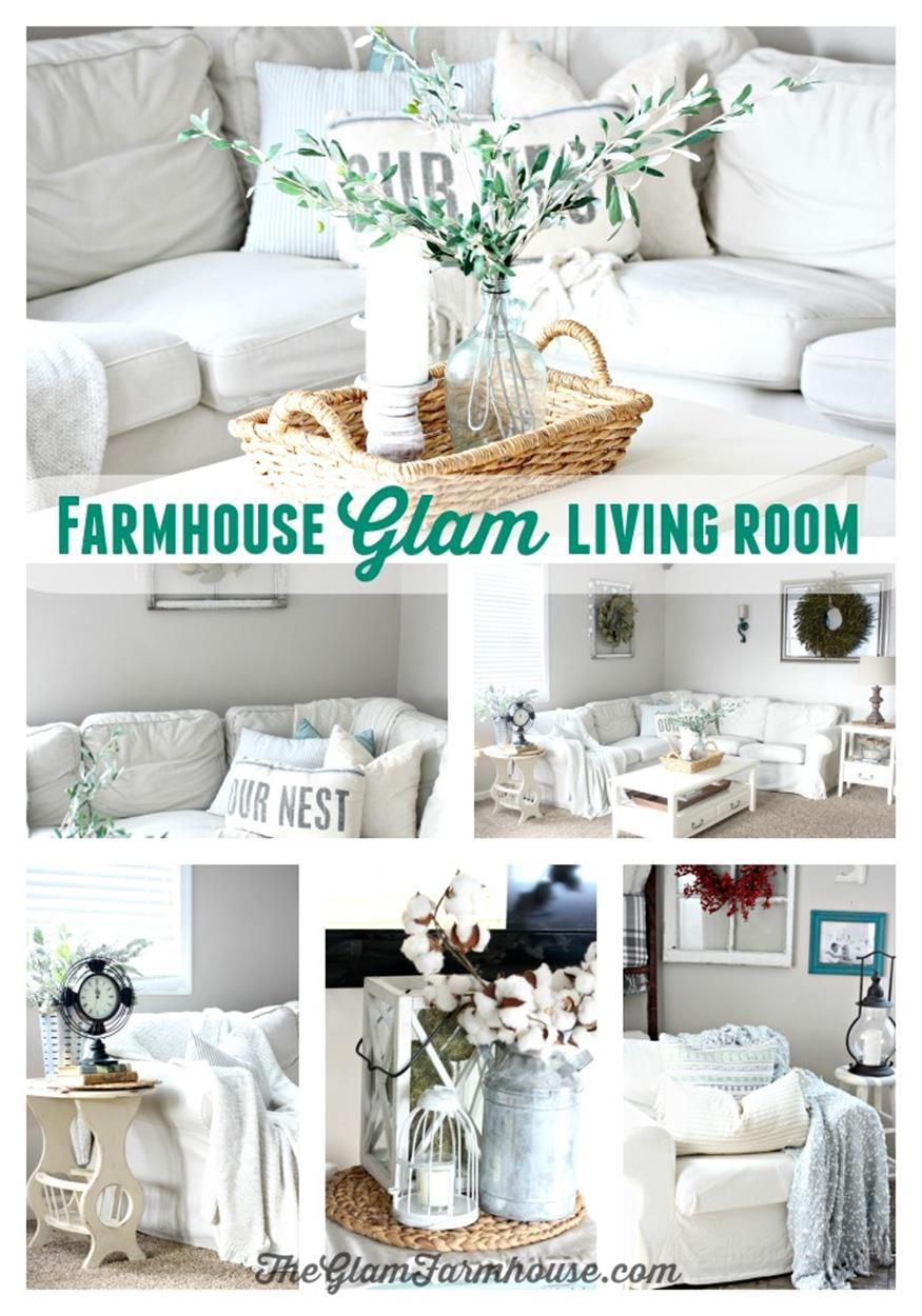 Farmhouse Glam Living Room Curtains For Yellow Walls In 42 Awesome Design Ideas