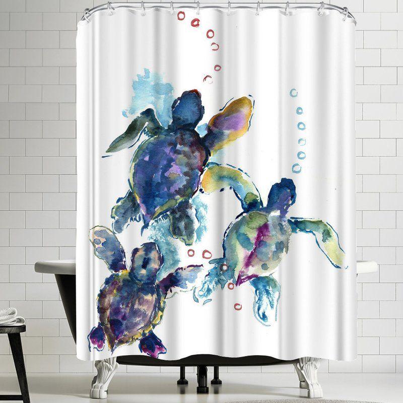 Suren Nersisyan Baby Sea Turtles 3 Single Shower Curtain