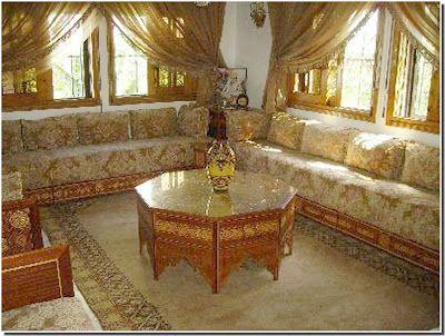 Nassima home salon marocain very nice simple gold for Salon marocain simple