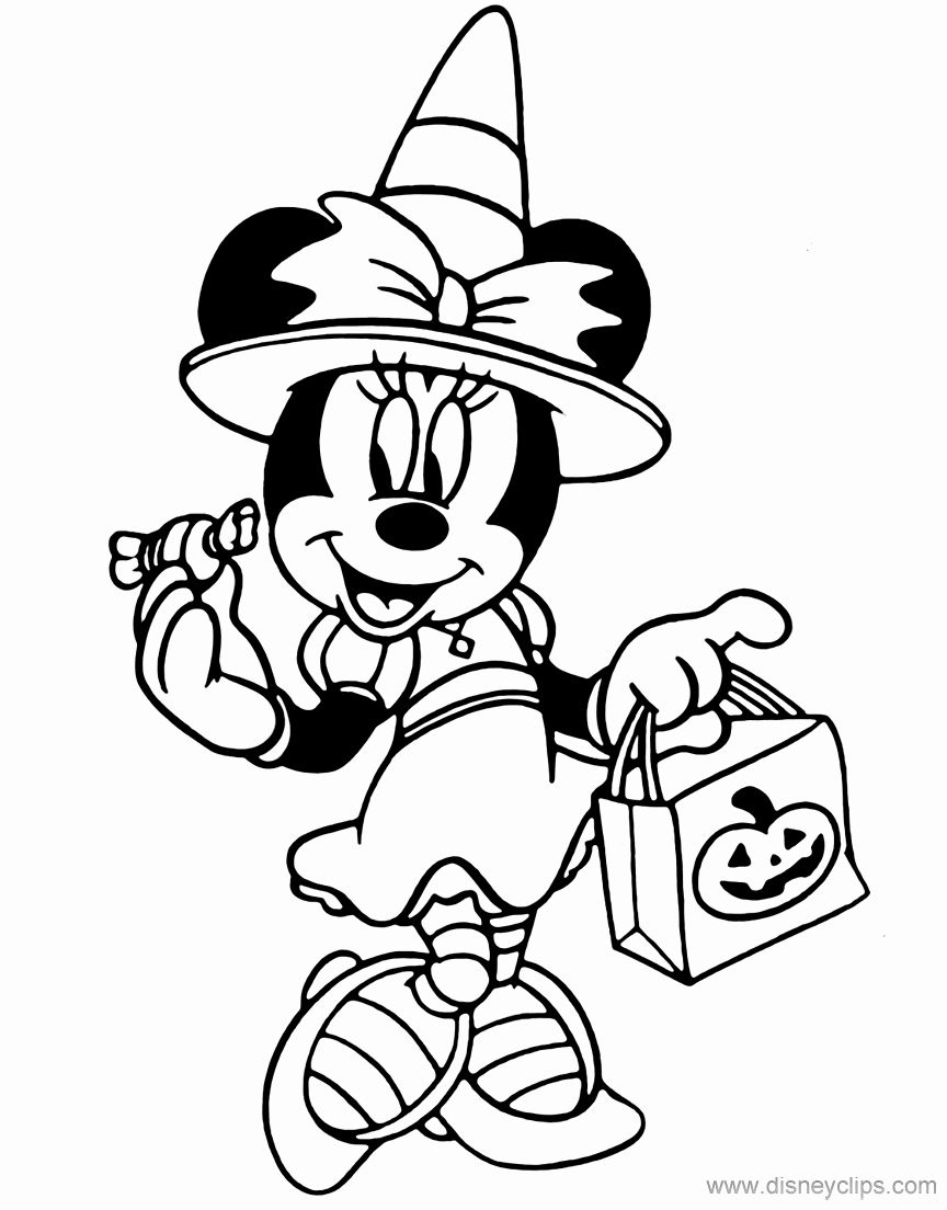 Disney Halloween Coloring Pages New Disney Halloween Coloring Pages 3 In 2020 Disney Coloring Pages Disney Halloween Coloring Pages Minnie Mouse Coloring Pages