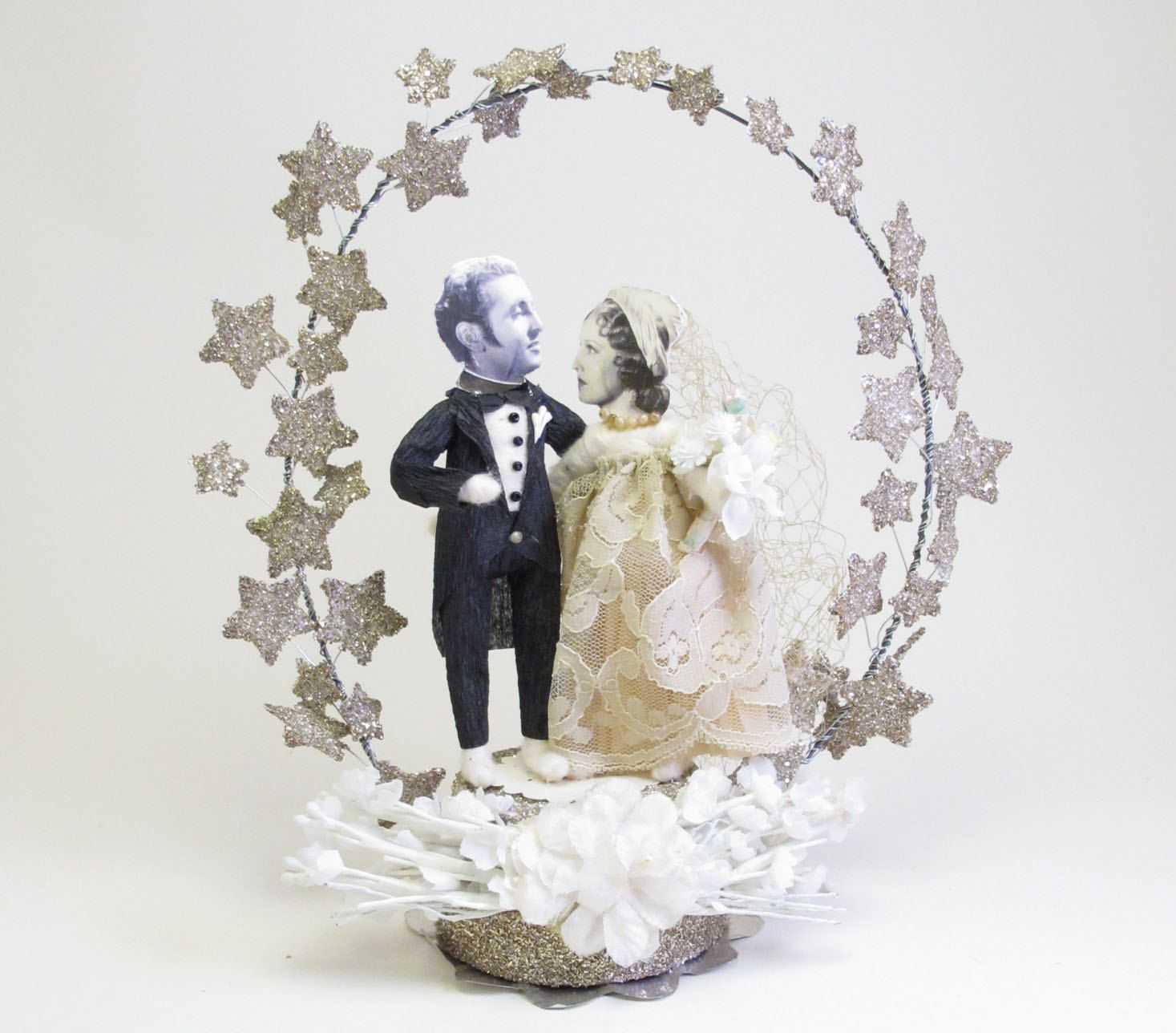 Made With German Glass Glittered Leaves Instead Of Stars My Grandparents Cake Topper