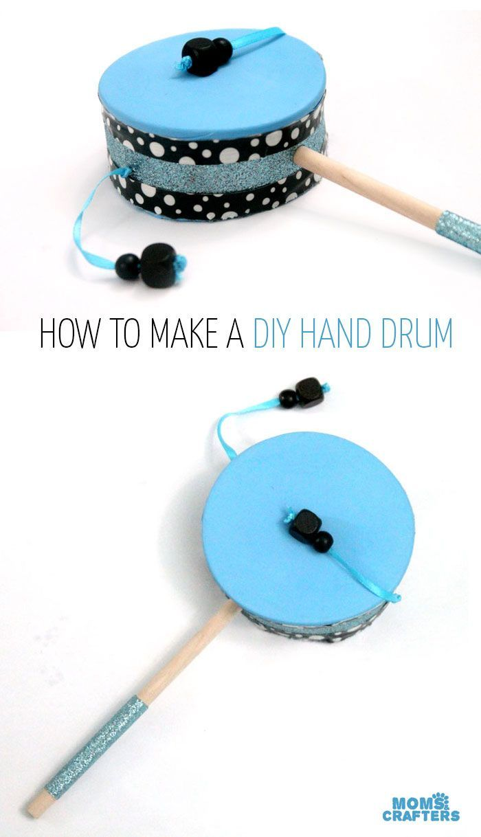 Make a diy hand drum hand drum diy toys and fun diy for Craft toys for kids