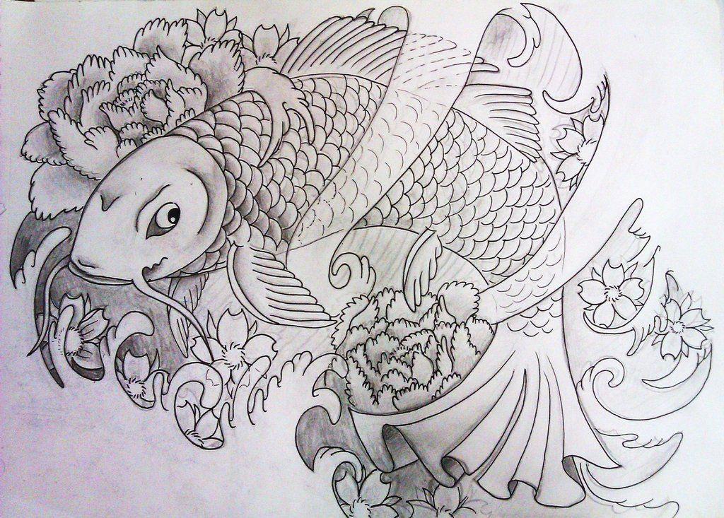 Coy Fish Coloring Pages Printable Coloring Sheet Anbu