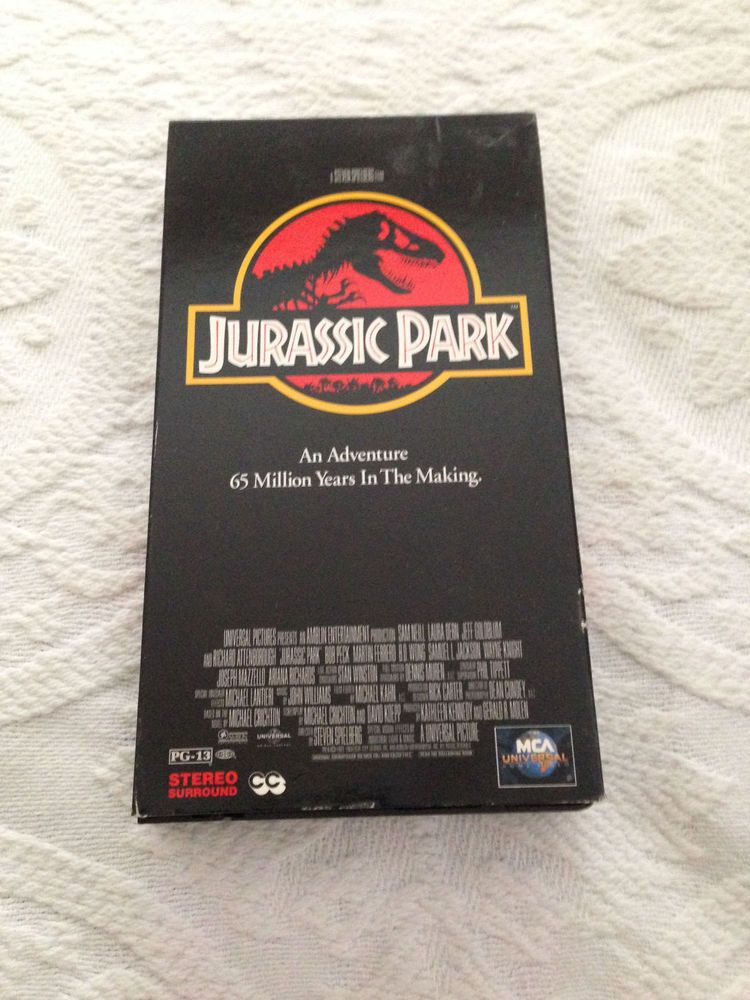 Jurassic Park  VHS 1997 Sam Neill  Laura Dern  Jeff Goldblum