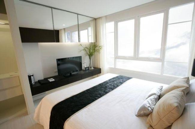 Aménagement petite chambre -utilisation optimale de lu0027espace - tv im schlafzimmer