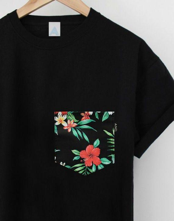 Usar Masculina Como De Mujer Floral Moda Estampa Camisa Na 4qwFtqX