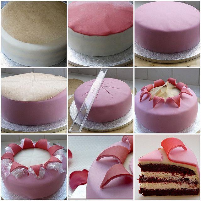valentine 39 s cake in the process of making fondant torten und kuchen. Black Bedroom Furniture Sets. Home Design Ideas
