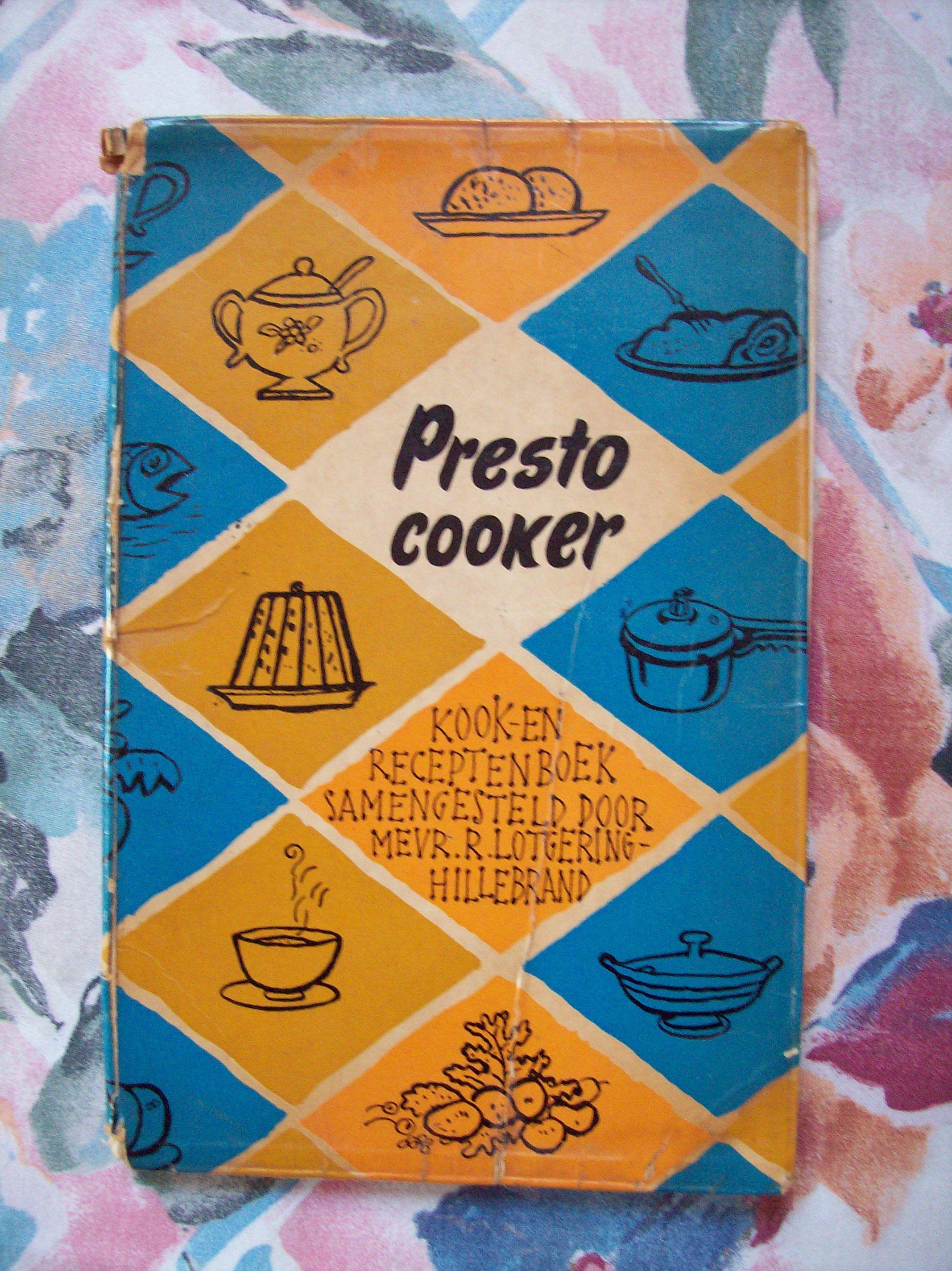 Het oude kookboekje van de snelkookpan plm 1959