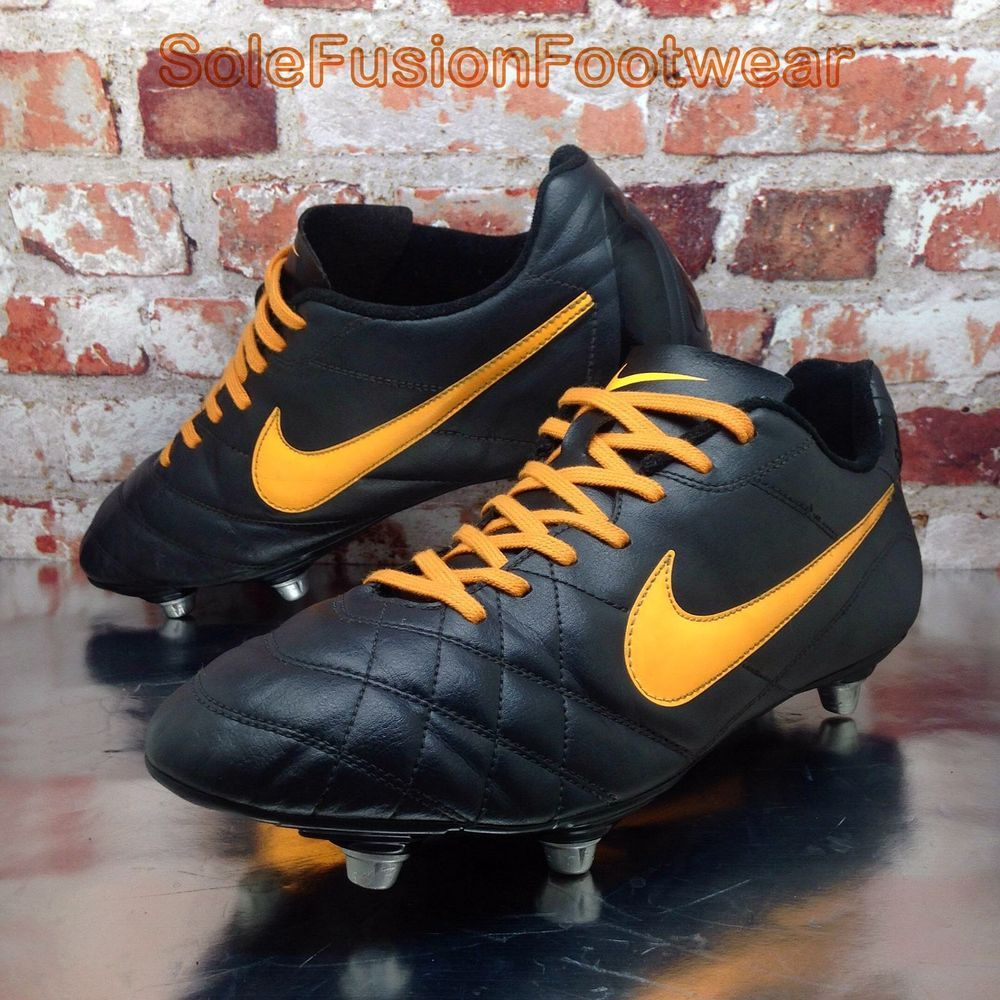 322cfb919 Nike Mens TIEMPO SG Football Boots Black Orange sz 11 RIO Soccer Cleats US  12