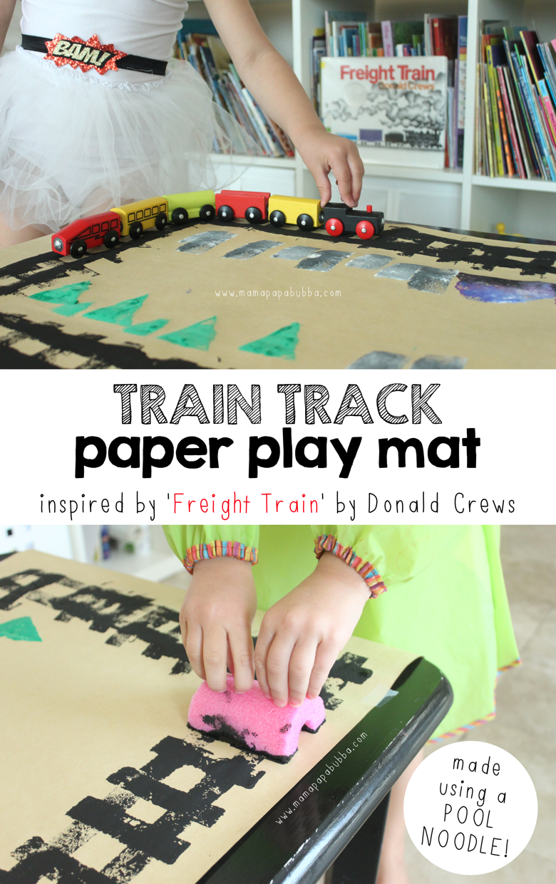 Make and Paint Your Own Freight Train DIY Educational Activity for Kids