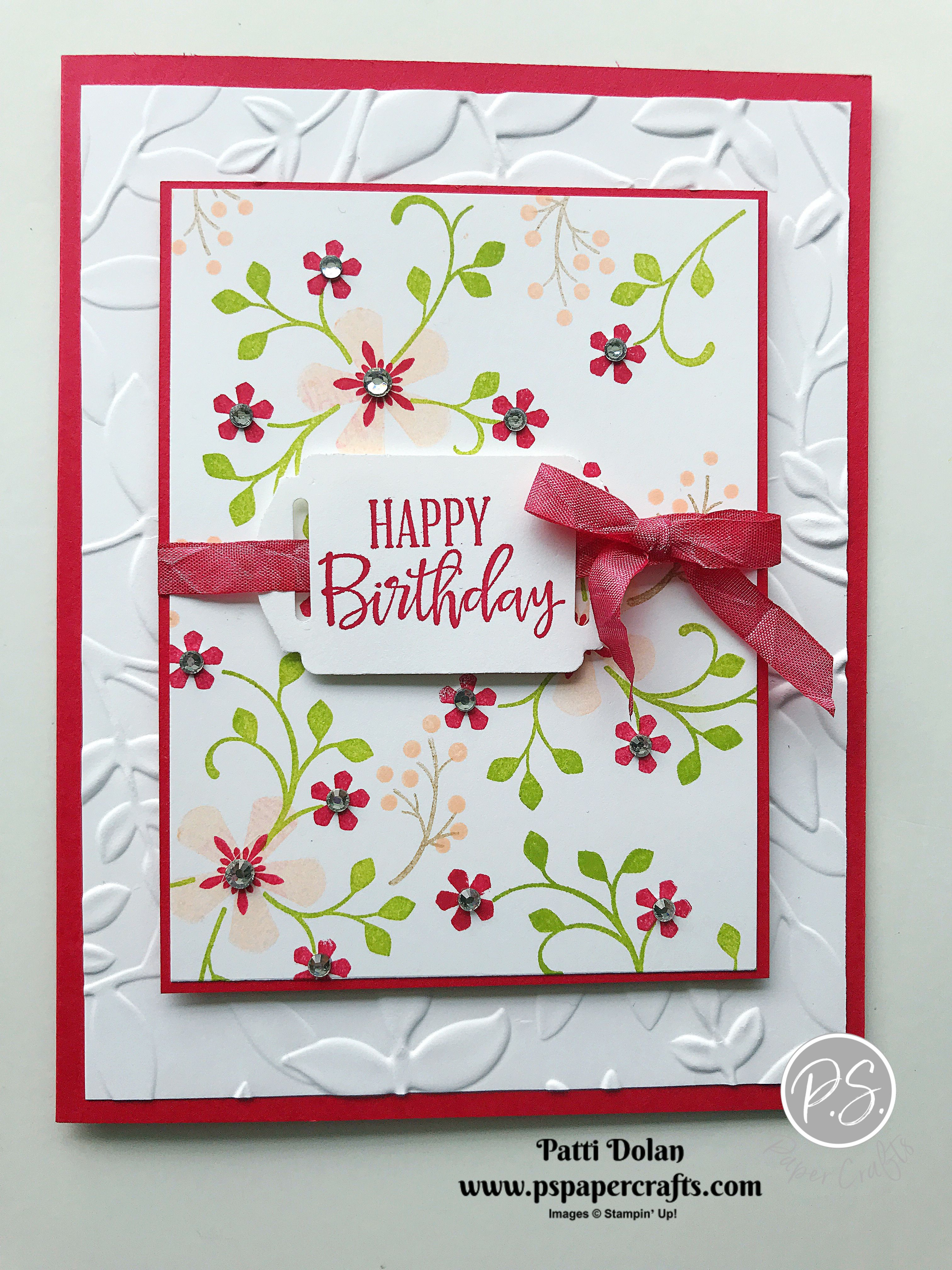 Pretty Birthday Card Using Thoughtful Blooms In 2020 Greeting Cards Handmade Cards Handmade Handmade Birthday Cards