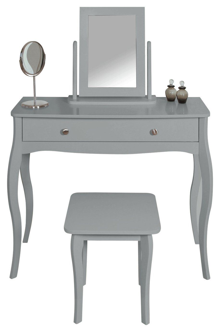 Argos Home Amelie Dressing Table Mirror And Stool Grey In 2020 Provence Style Home One Bedroom