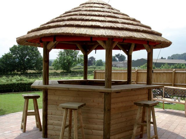 Tiki Bar Outside Tiles Outdoor Classrooms Thatched Or