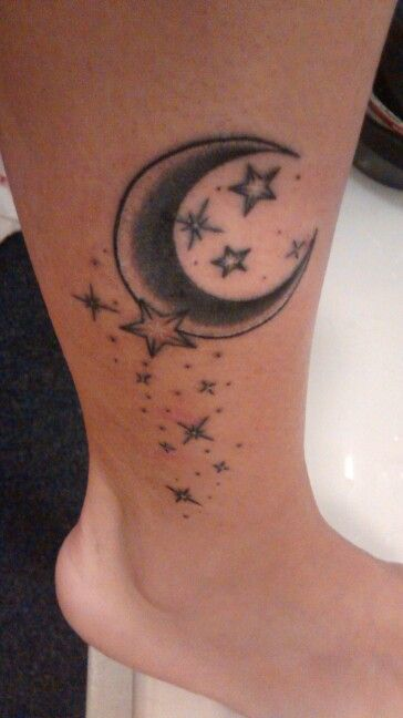 My Moon Stars Tattoo 3 Star Tattoo Designs Moon Star Tattoo Star Tattoos