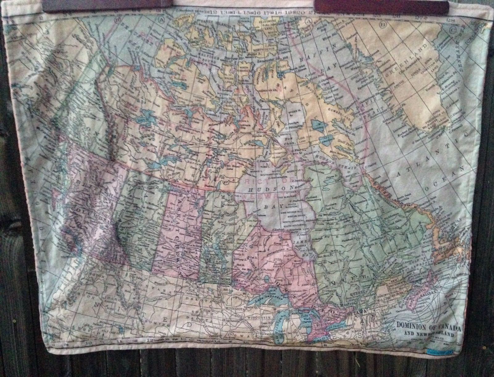 Canada map minky baby blanket vintage map cuddle quilt