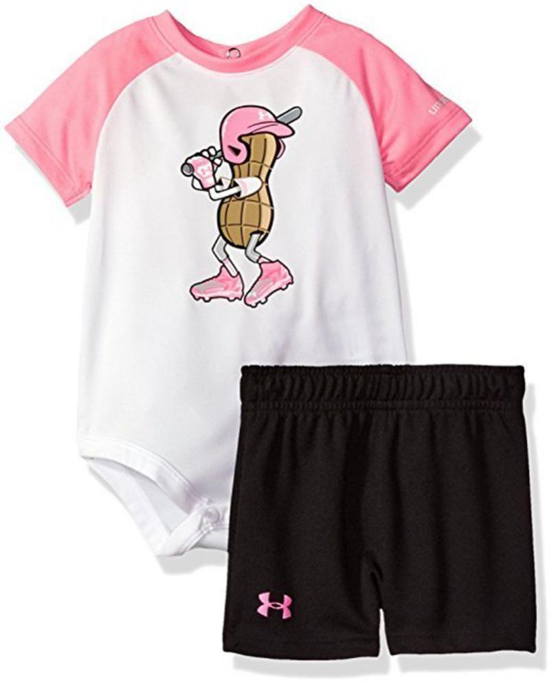 415006e6a5 Under Armour Infant Girls Peanut League 2pc Short Set Size 6/9M ...