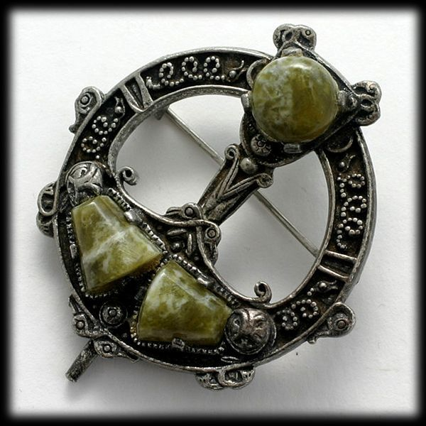 Miracle Tara Brooch Pendant With Connemara Marble From
