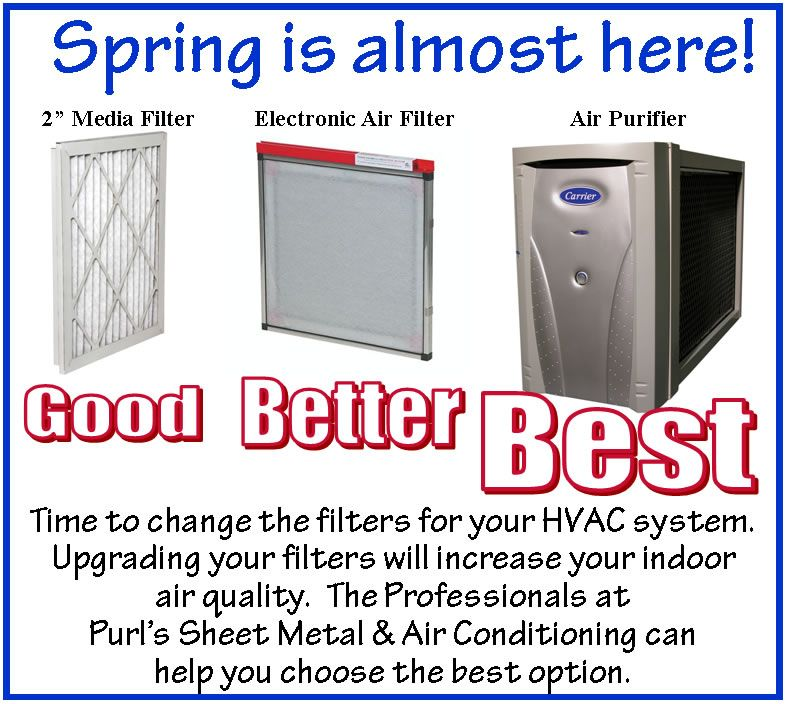 Spring time is the perfect time to change the filters for