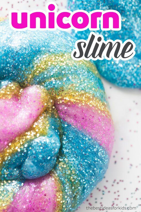 Unicorn Slime Recipe Glittery Slime Glitter Slime Slime