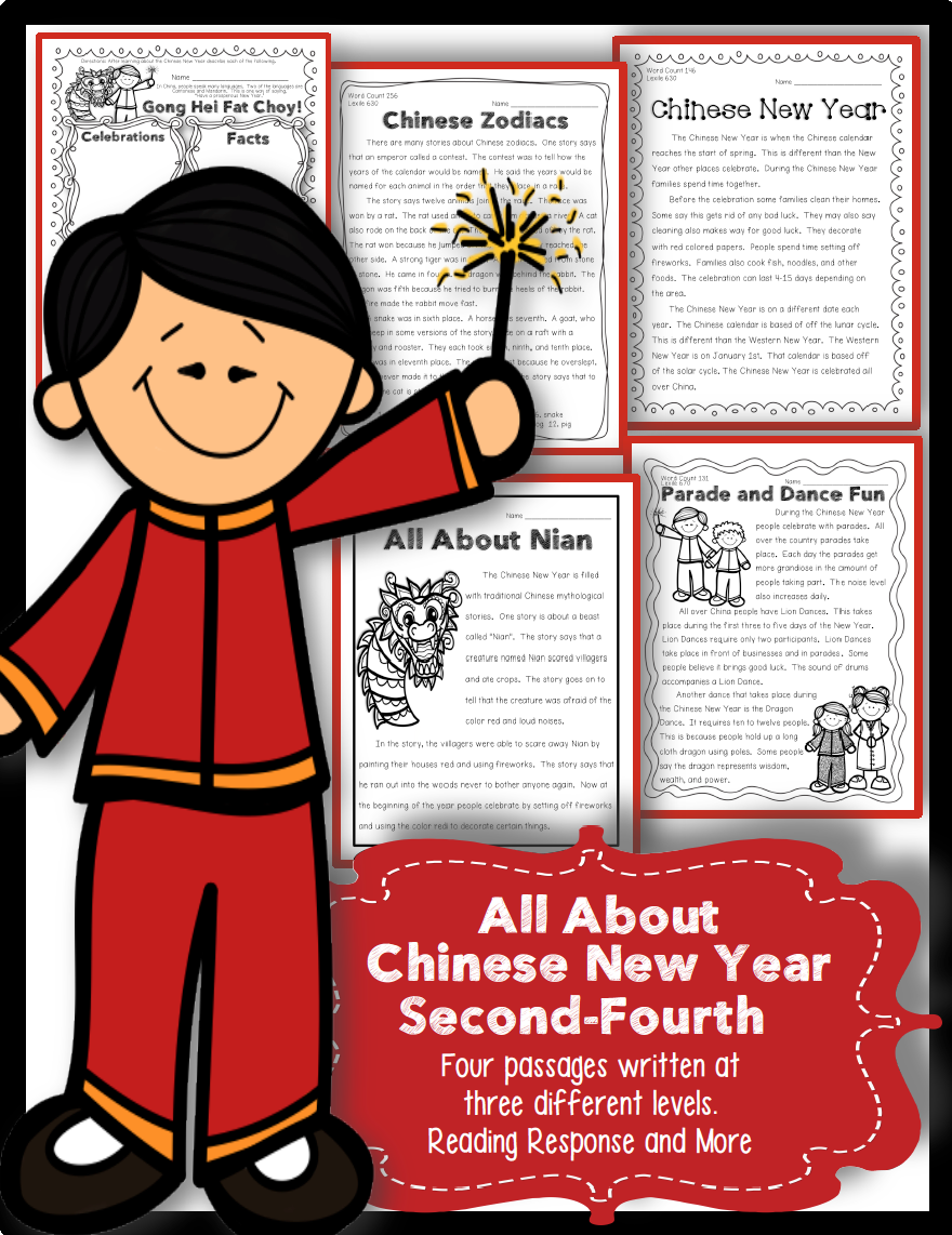 Celebrate the Chinese New Year by integrating Close Reading and ELA skills  during your Social Studies