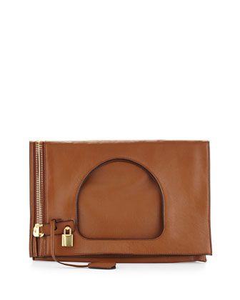 Alix Small Padlock & Zip Shoulder Bag, Caramel by Tom Ford at Neiman Marcus.