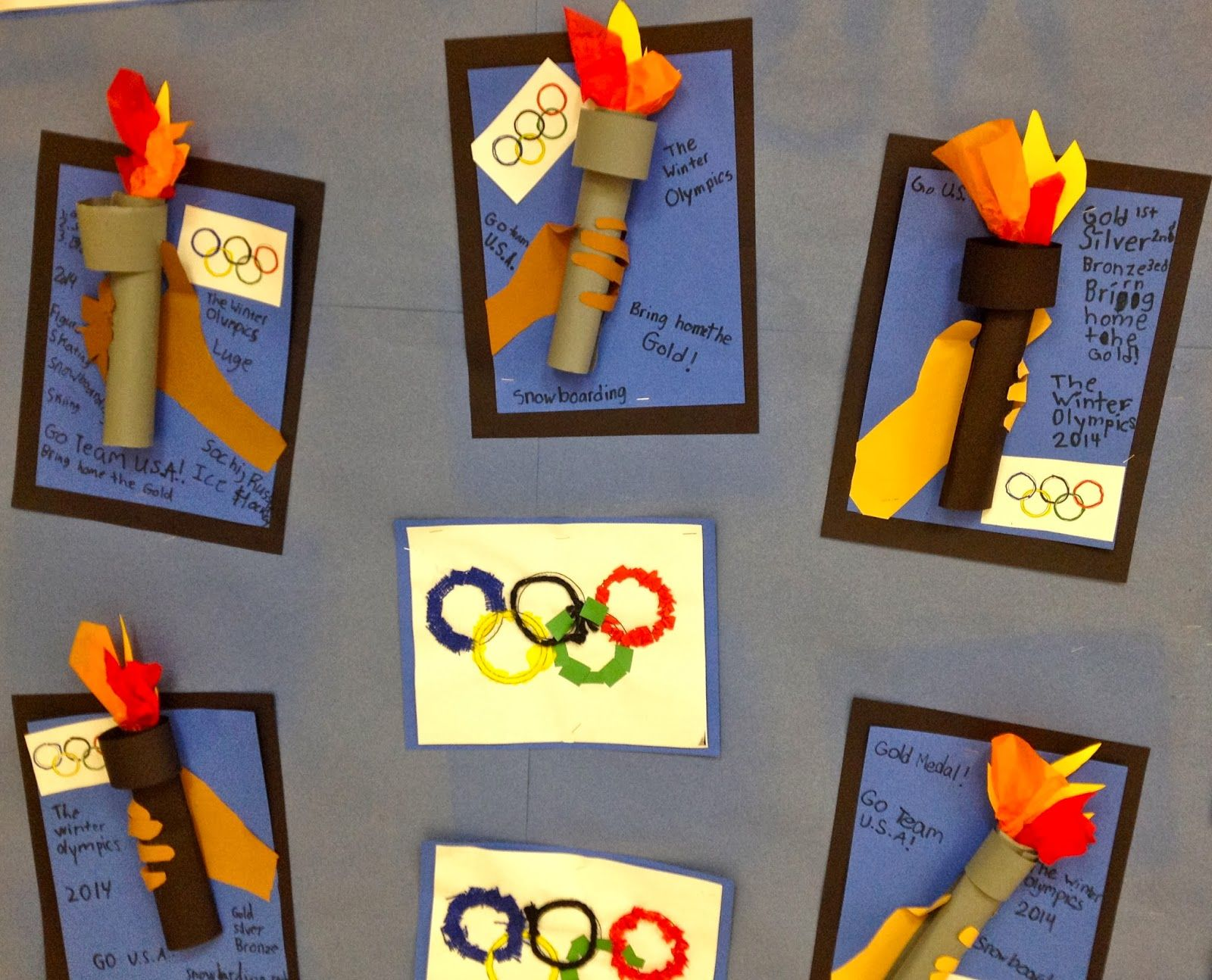 Olympic Art Torch And Rings 1st And 2nd Grade Art With Mr