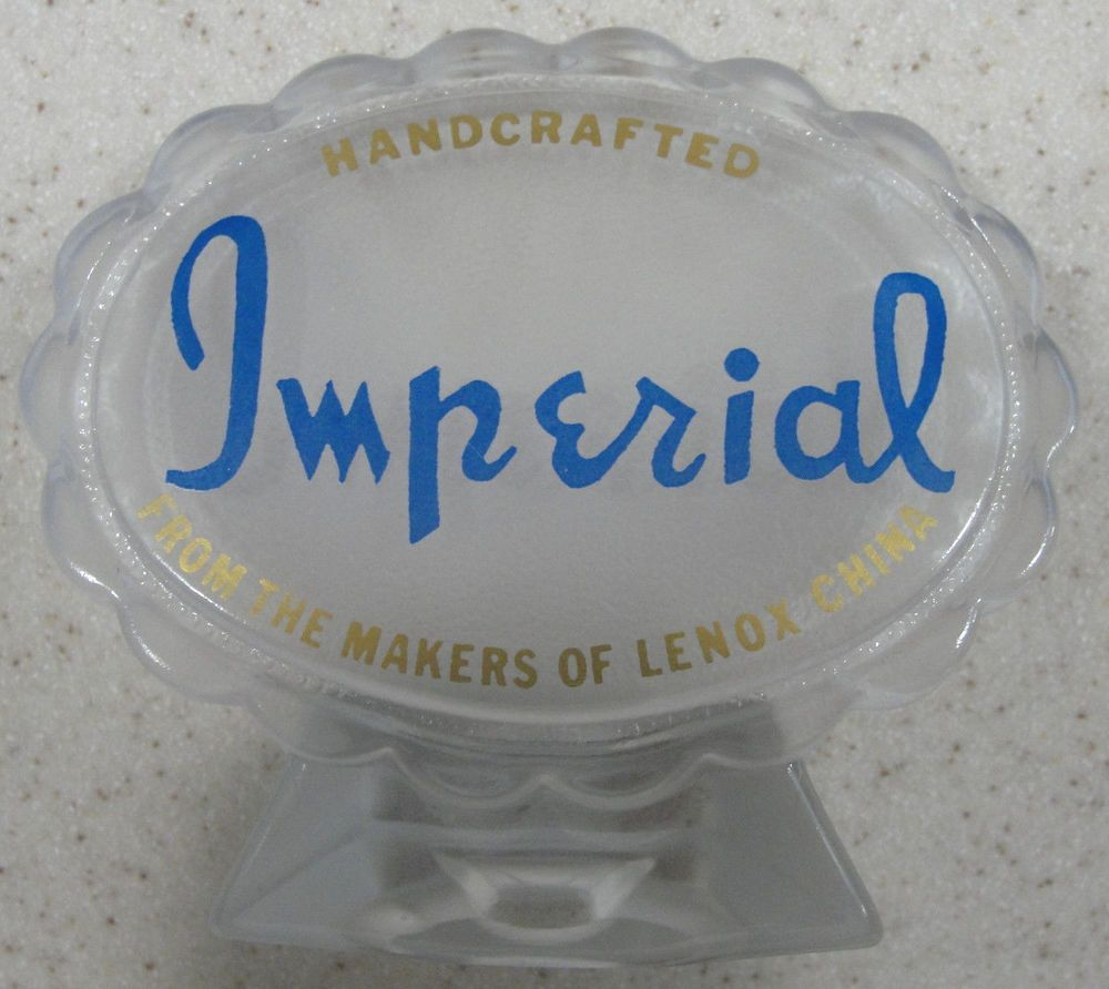 Vintage Imperial Glass ~ Sales / Dealer Advertisement Signage  #Imperial