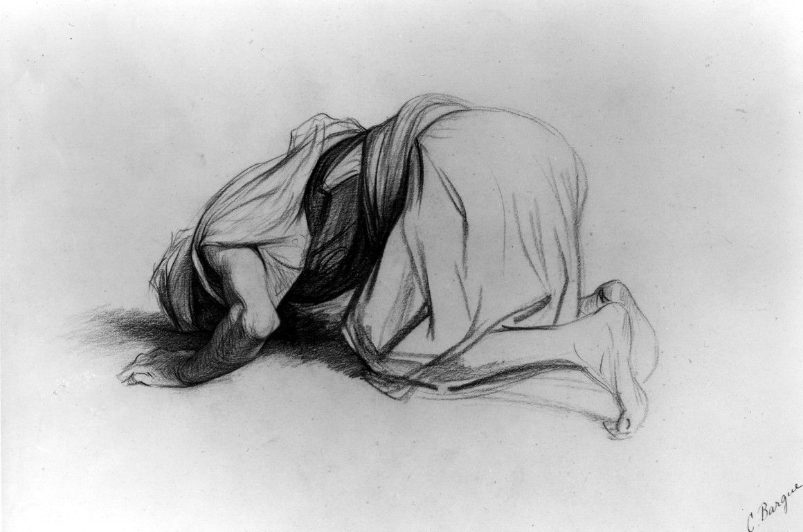 prostrate kneel pray | Fashion drawing sketches, Drawing course ...