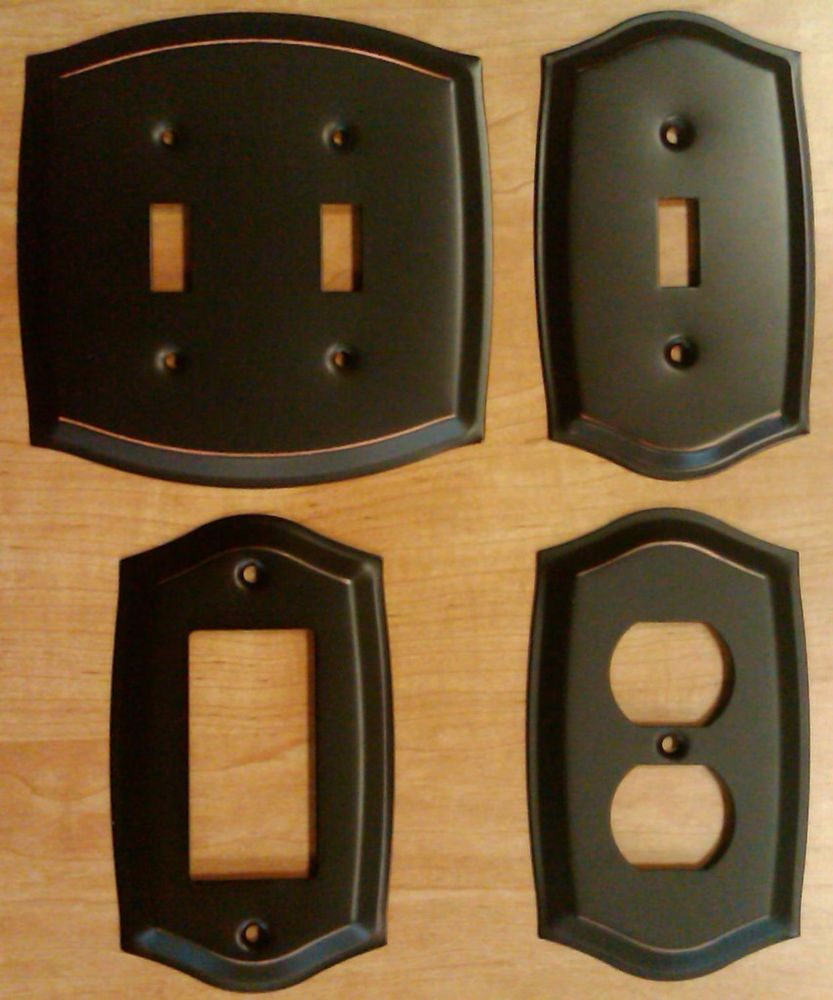 Switch Plate Outlet Cover Wall Rocker Oil Rubbed Bronze Covers Plates
