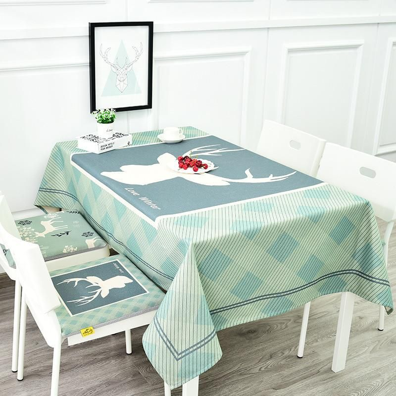 New Arrivals Europe Beddingoutlet Deer Printed Tablecloth Cotton