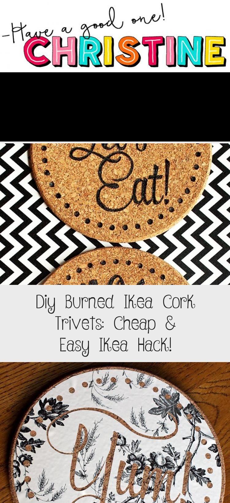 DIY Burned IKEA Cork Trivets: Cheap & Easy IKEA Hack!   Where The Smiles Have Been #IKEA #IKEAhack #cork #corktrivet #corkcoaster #home #corkboard #trivet #coaster #woodburning #pyrography #kitchen #DIYgift #personalizedgift #HomeDecorDIYVideosIdeas #HomeDecorDIYVideosCheap #HomeDecorDIYVideosBedroom #HomeDecorDIYVideosOnABudget #HomeDecorDIYVideosApartment