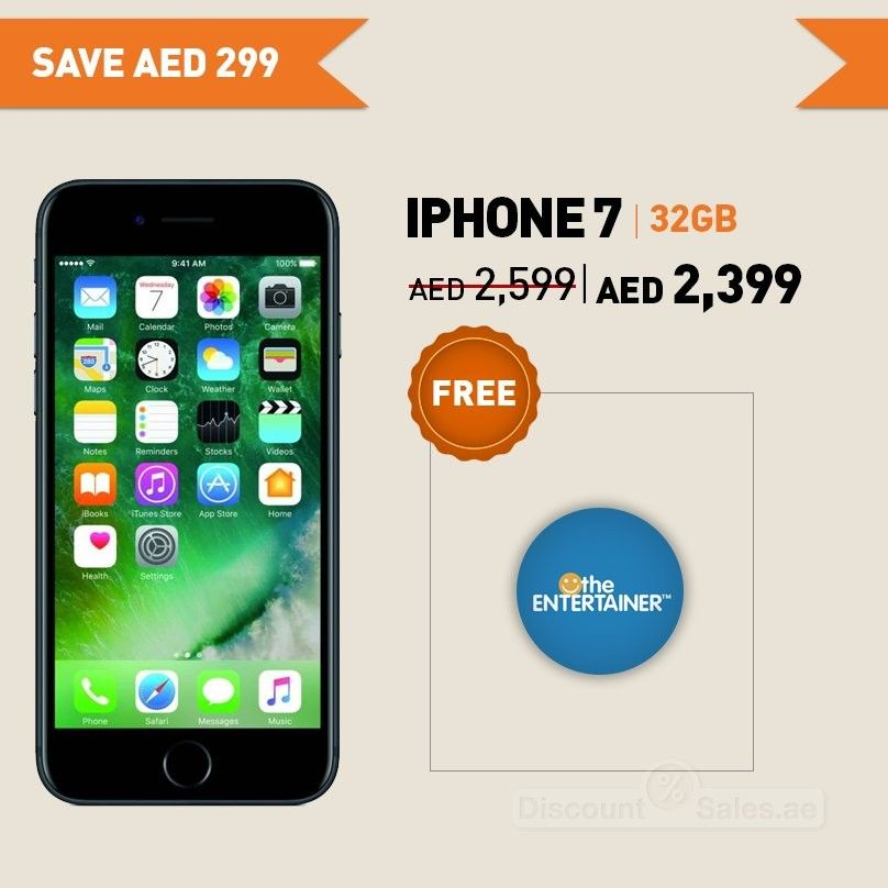 Get iPhone 7 32 GB Now available for AED 2399 at Axiom stores