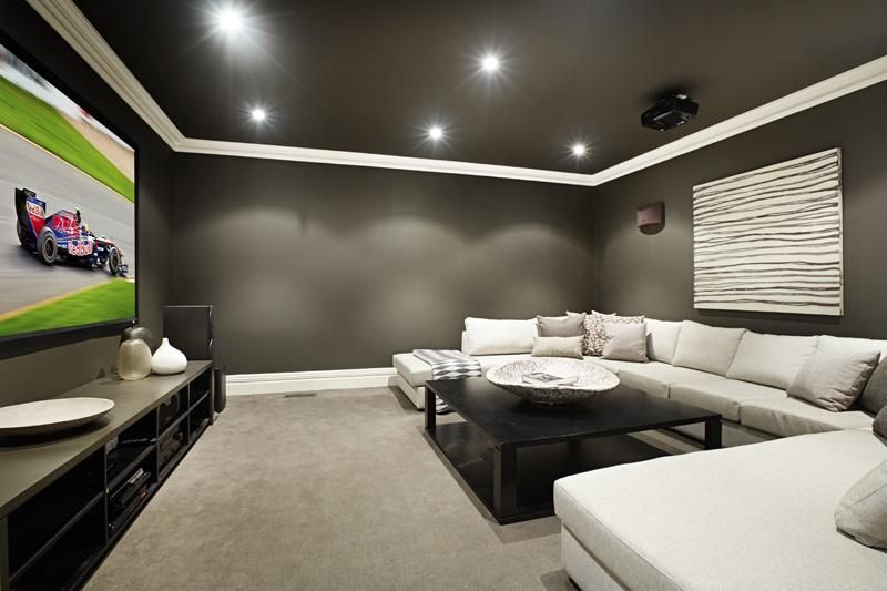theatre room colours are good entertainment room house home rh pinterest com