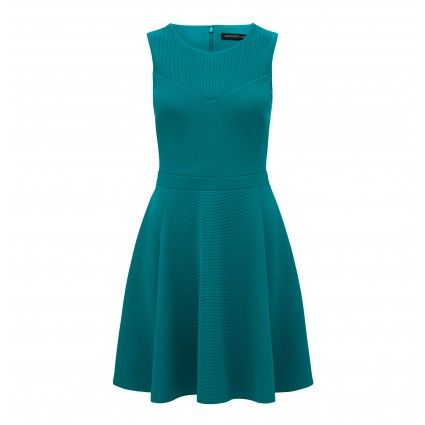 ForeverNew Louise Cut About Rib Skater Dress Main Image