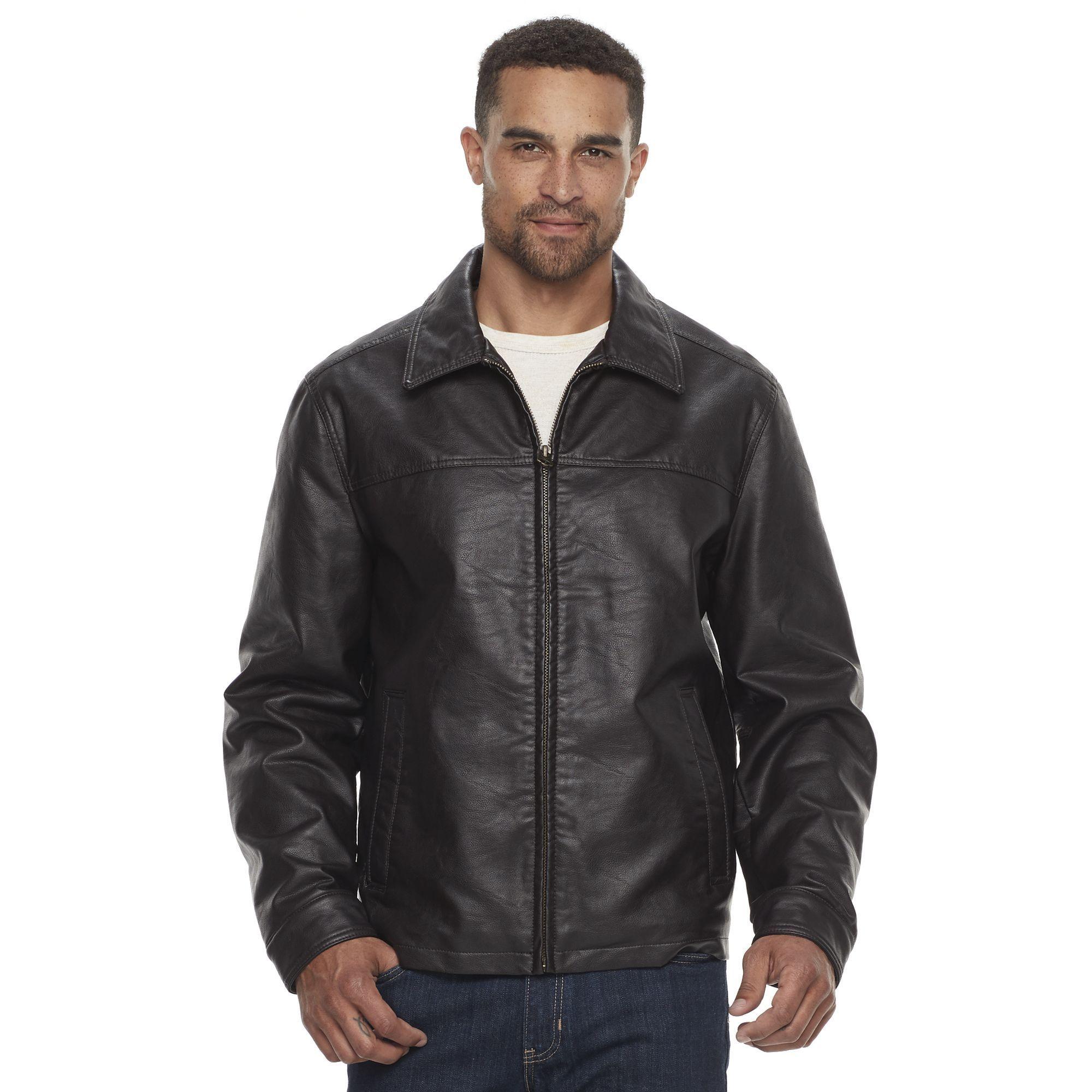 Men's Dockers FauxLeather Jacket Jackets, Faux leather