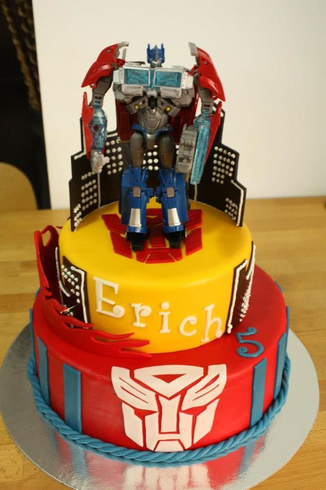 Remarkable Transformer Cake Transformers Birthday Cake Transformers Cake Funny Birthday Cards Online Elaedamsfinfo