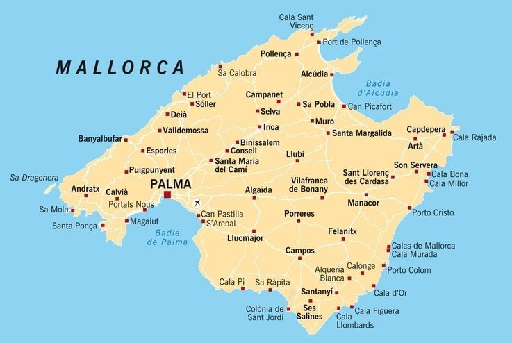 Porto Cristo Mallorca Karte Mallorca Landkarte