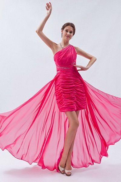 Ein-Schulter-A-Line Tüll Berühmtheit Kleider ba0882 - http://www ...