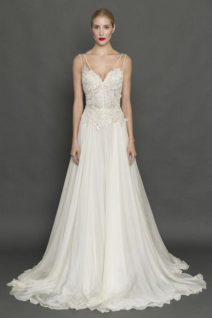 Francesca Miranda Fall 2017 Wedding Dress | itakeyou.co.uk #weddingdress #weddingdresses #strapless #bride #bridalgown #weddinggown #weddinggowns