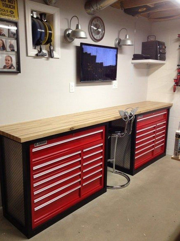 Kleine Garage 35 Cool Man Cave Garage Ideas 13 | Werkstattorganisation ...