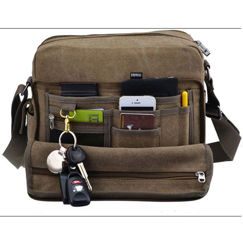 Multifunction Men S Canvas Crossbody Bag Shoulder Bag Handbag