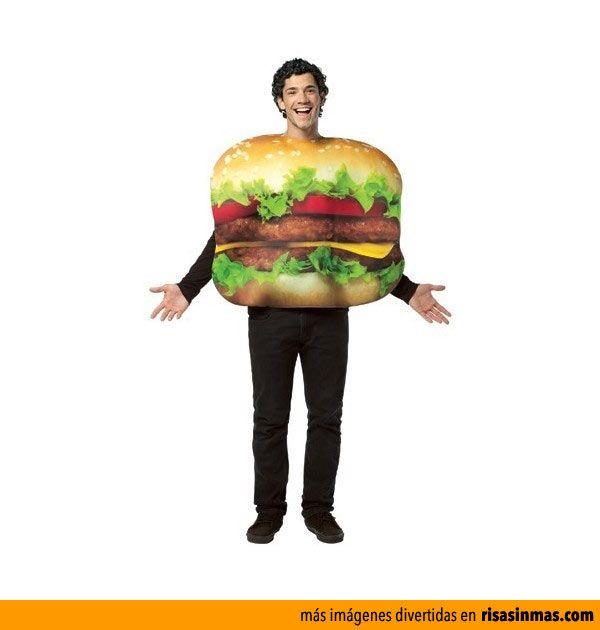 Disfraz de hamburguesa.  689b50d84ea