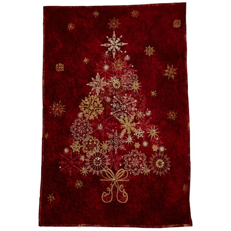 Stonehenge Red Tree Starry Night Wall Hanging Kit with Lights - Deborah  Edwards - Northcott - Stonehenge Red Tree Starry Night Wall Hanging Kit With Lights