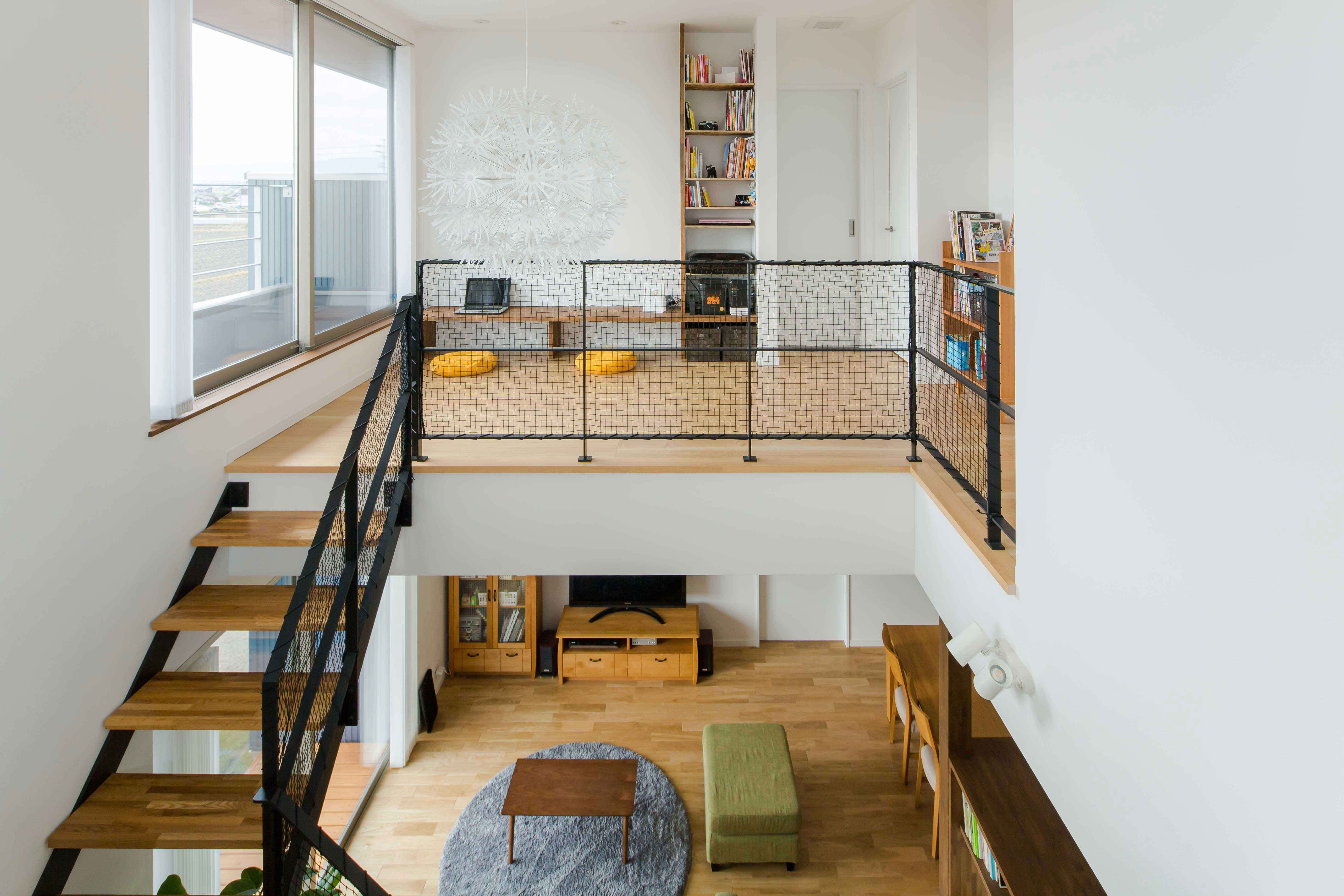 見晴らしのいい吹き抜けのある空間 ルポハウス 設計士とつくる家