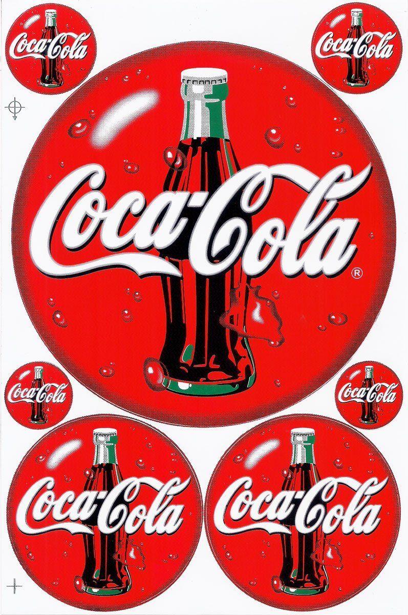 "COCA COLA PEPSI COLA DECAL SODA CAP STICKER 9/"""