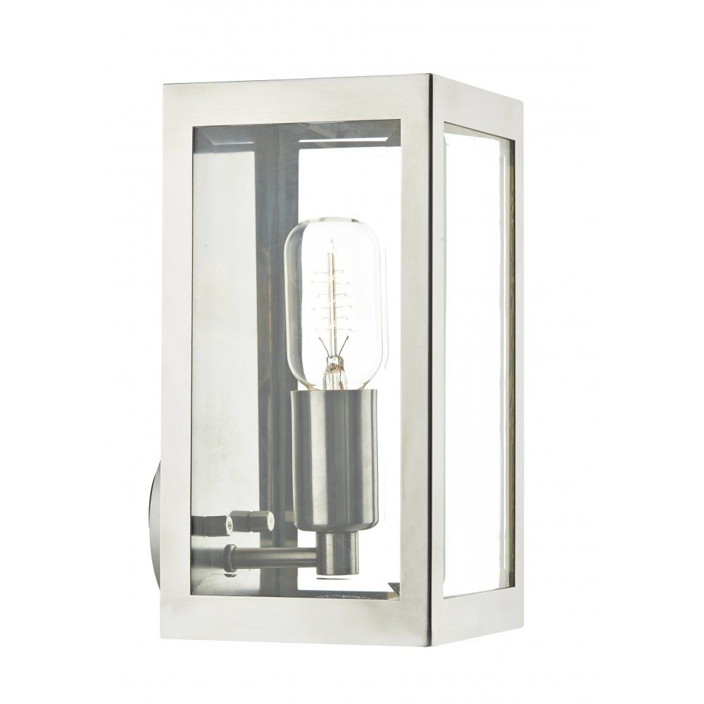 Rustic steel box outdoor wall light ip44 rated for safe for Modern house exterior lights