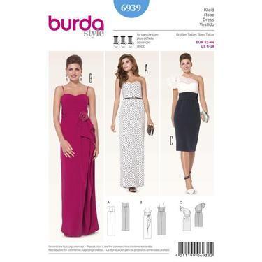 Burda 6939 Womens Evening And Bridal Wear 6 18 Spotlight