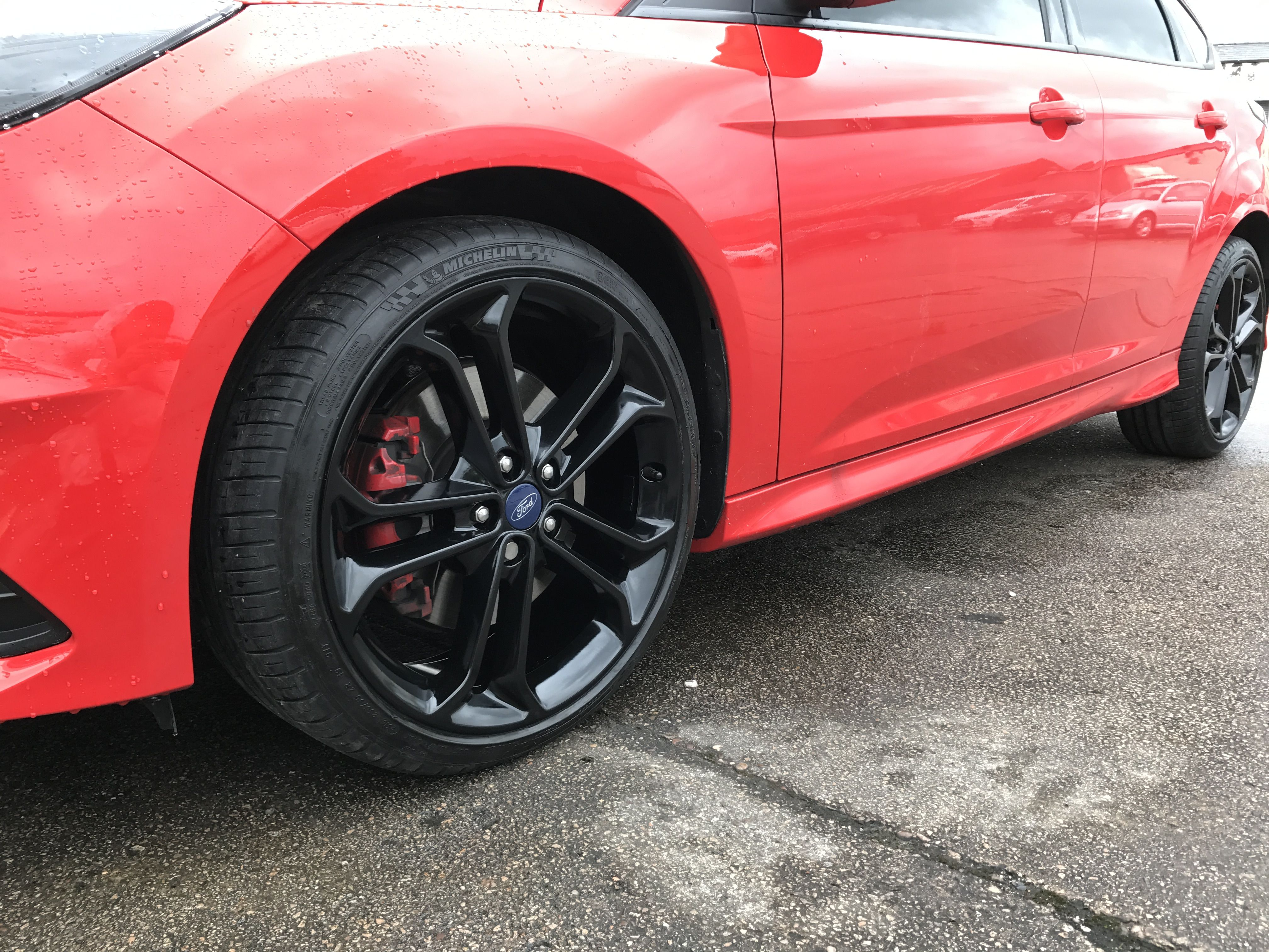 2017 Ford Focus ST alloys we refurbished and powder coated