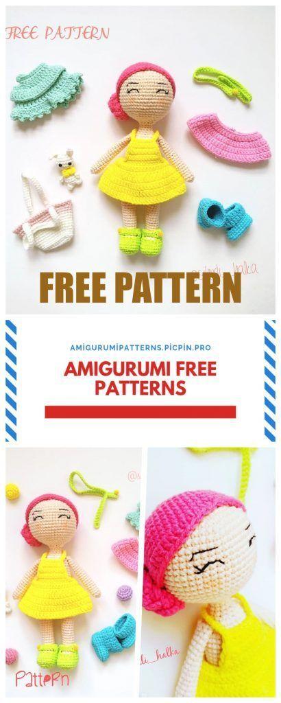 Photo of Amigurumi Style Doll Free Häkelanleitung – Amigurumi Patterns – #Amigurumi #Dol…