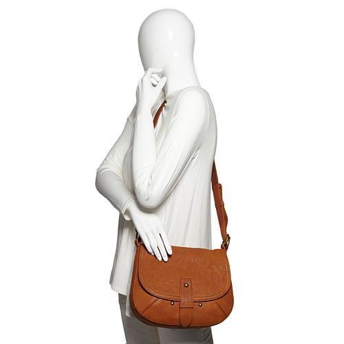 Lucky Brand Liza Leather Shoulder Crossbody - Tan Cafe